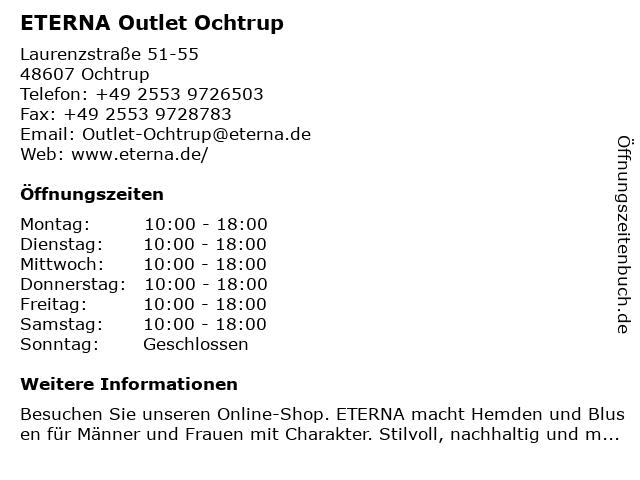 ETERNA Outlet in Ochtrup: Adresse und Öffnungszeiten
