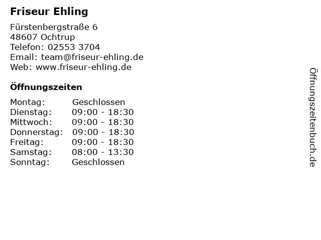 Friseur Ehling in Ochtrup: Adresse und Öffnungszeiten