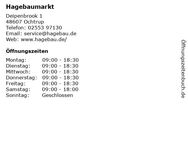 Hagebaumarkt in Ochtrup: Adresse und Öffnungszeiten