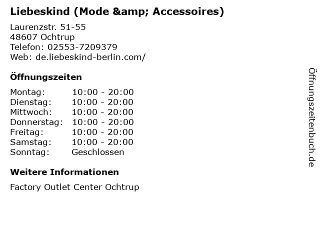 Liebeskind (Mode & Accessoires) in Ochtrup: Adresse und Öffnungszeiten
