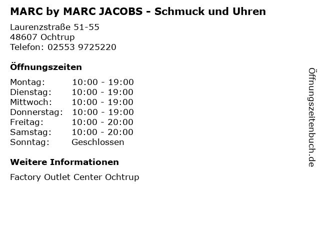 MARC by MARC JACOBS - Schmuck und Uhren in Ochtrup: Adresse und Öffnungszeiten