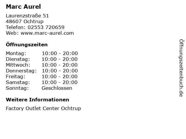 Marc Aurel in Ochtrup: Adresse und Öffnungszeiten