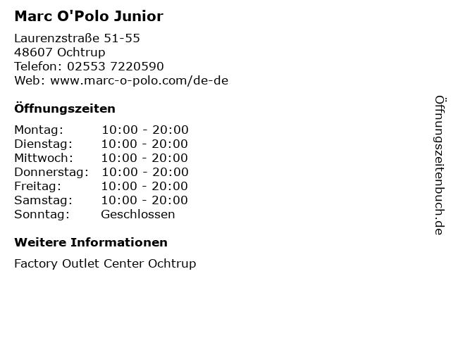 Marc O'Polo Junior in Ochtrup: Adresse und Öffnungszeiten