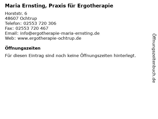 Maria Ernsting, Praxis für Ergotherapie in Ochtrup: Adresse und Öffnungszeiten