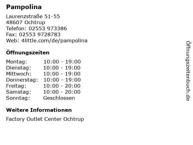 Pampolina in Ochtrup: Adresse und Öffnungszeiten