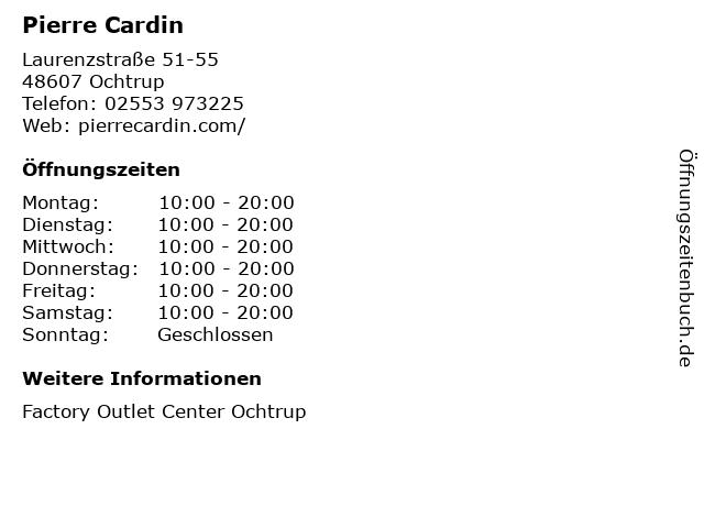 Pierre Cardin in Ochtrup: Adresse und Öffnungszeiten