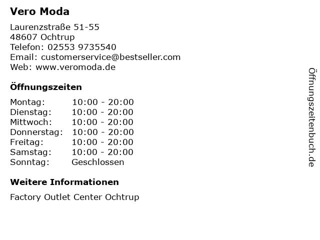 Vero Moda in Ochtrup: Adresse und Öffnungszeiten