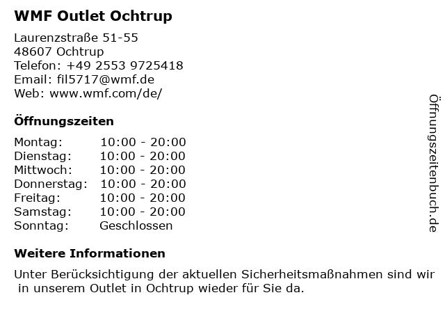WMF Outlet Ochtrup in Ochtrup: Adresse und Öffnungszeiten