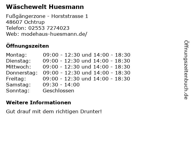 Wäschewelt Huesmann in Ochtrup: Adresse und Öffnungszeiten