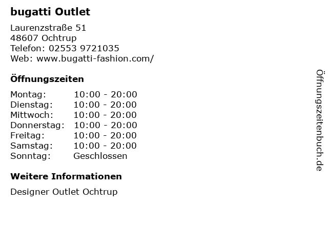 bugatti in Ochtrup: Adresse und Öffnungszeiten