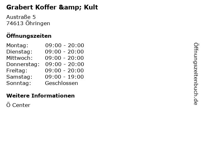 Grabert Koffer & Kult in Öhringen: Adresse und Öffnungszeiten