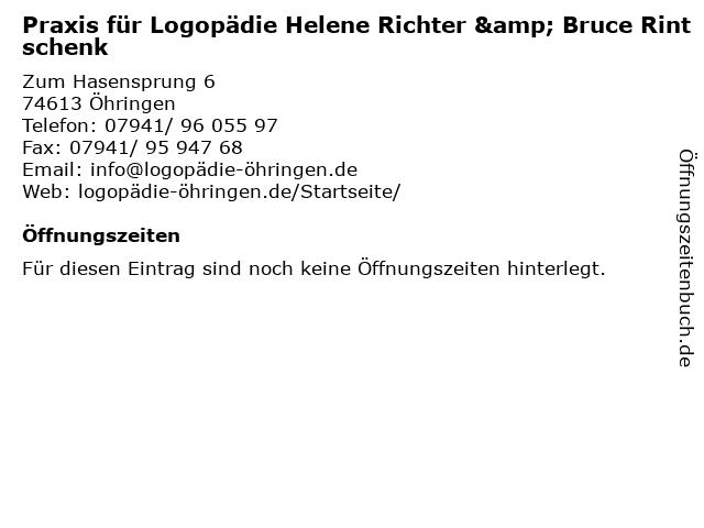 Praxis für Logopädie Helene Richter & Bruce Rintschenk in Öhringen: Adresse und Öffnungszeiten