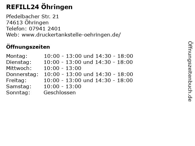 REFILL24 Öhringen in Öhringen: Adresse und Öffnungszeiten
