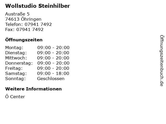 Wollstudio Steinhilber in Öhringen: Adresse und Öffnungszeiten