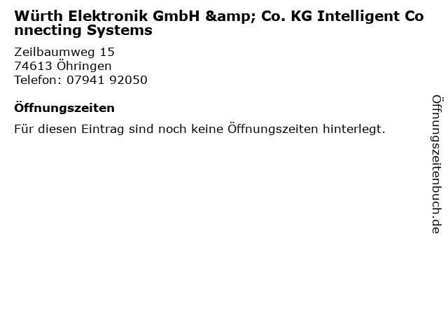 Würth Elektronik GmbH & Co. KG Intelligent Connecting Systems in Öhringen: Adresse und Öffnungszeiten