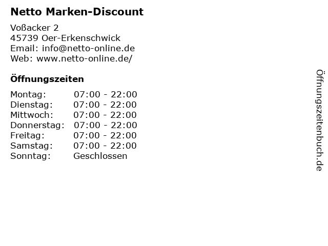 Netto Marken-Discount in Oer-Erkenschwick: Adresse und Öffnungszeiten