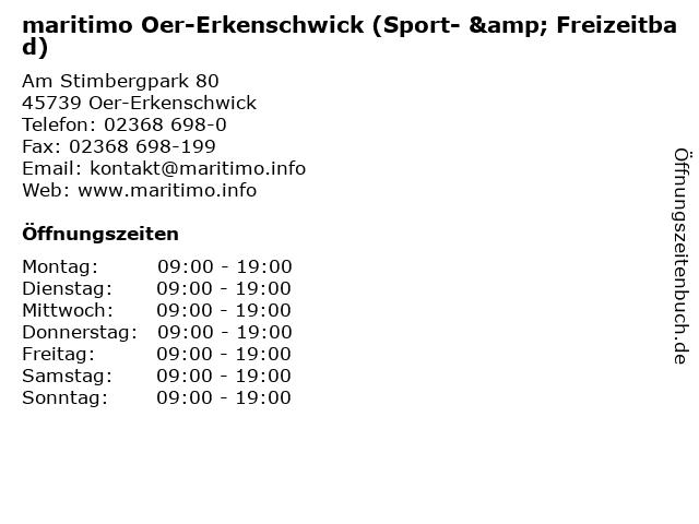 maritimo Oer-Erkenschwick (Sport- & Freizeitbad) in Oer-Erkenschwick: Adresse und Öffnungszeiten