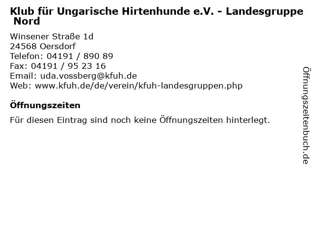 Klub für Ungarische Hirtenhunde e.V. - Landesgruppe Nord in Oersdorf: Adresse und Öffnungszeiten