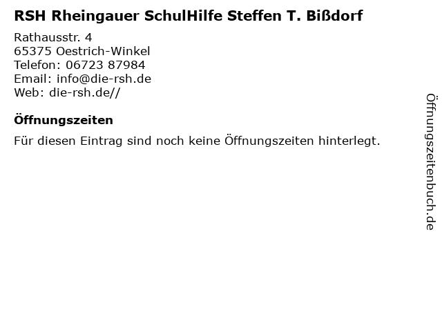 RSH Rheingauer SchulHilfe Steffen T. Bißdorf in Oestrich-Winkel: Adresse und Öffnungszeiten