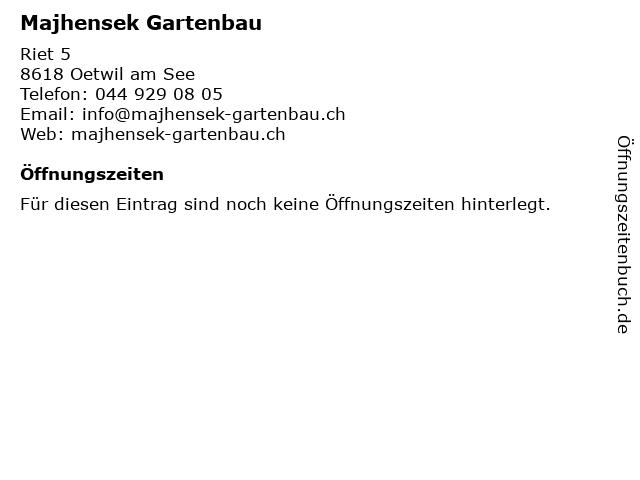 Majhensek Gartenbau in Oetwil am See: Adresse und Öffnungszeiten