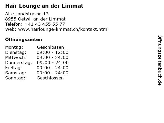 Hair Lounge an der Limmat in Oetwil an der Limmat: Adresse und Öffnungszeiten