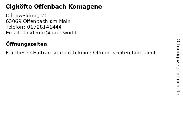 Cigköfte Offenbach Komagene in Offenbach am Main: Adresse und Öffnungszeiten
