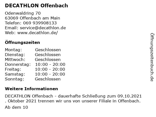 Decathlon in Offenbach am Main: Adresse und Öffnungszeiten