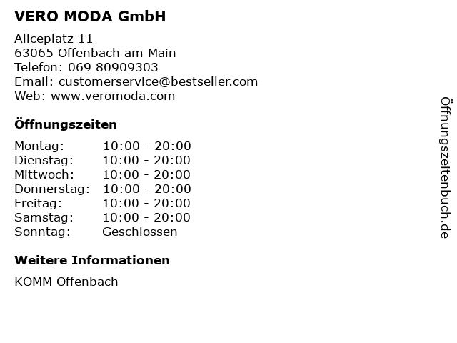 VERO MODA GmbH in Offenbach am Main: Adresse und Öffnungszeiten