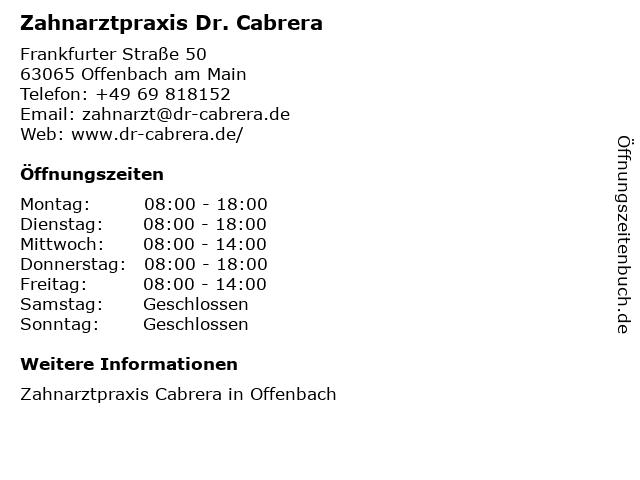 Branca Ostojic-Popovic Zahnärztin in Offenbach: Adresse und Öffnungszeiten