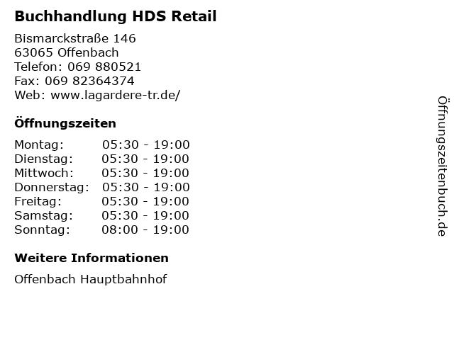 Buchhandlung HDS Retail in Offenbach: Adresse und Öffnungszeiten