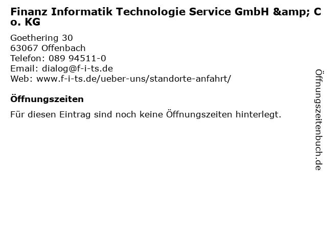 Finanz Informatik Technologie Service GmbH & Co. KG in Offenbach: Adresse und Öffnungszeiten