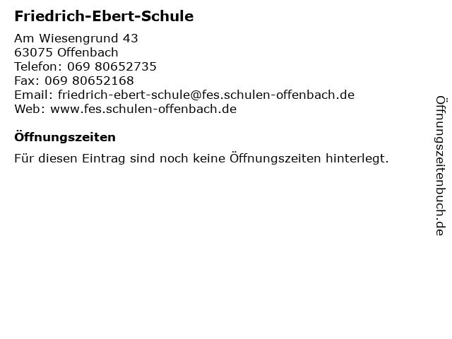 Friedrich-Ebert-Schule in Offenbach: Adresse und Öffnungszeiten