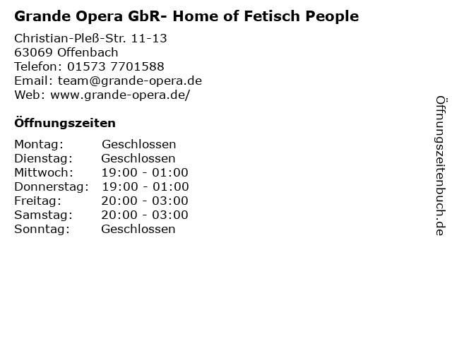 Grande Opera GbR- Home of Fetisch People in Offenbach: Adresse und Öffnungszeiten