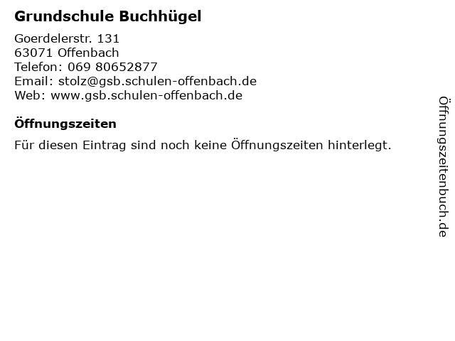 Grundschule Buchhügel in Offenbach: Adresse und Öffnungszeiten