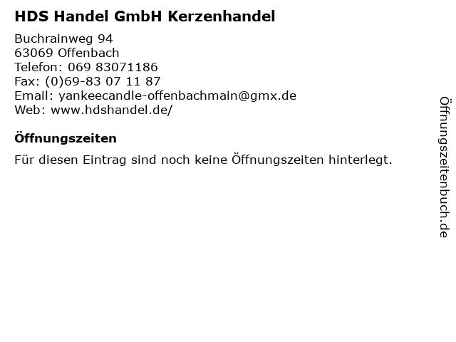 HDS Handel GmbH Kerzenhandel in Offenbach: Adresse und Öffnungszeiten