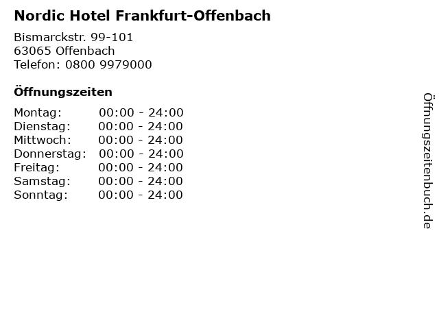 Nordic Hotel Frankfurt-Offenbach in Offenbach: Adresse und Öffnungszeiten