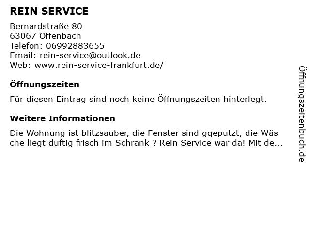 REIN SERVICE in Offenbach: Adresse und Öffnungszeiten