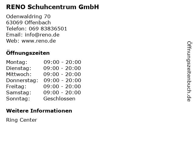 RENO Schuhcentrum GmbH in Offenbach: Adresse und Öffnungszeiten
