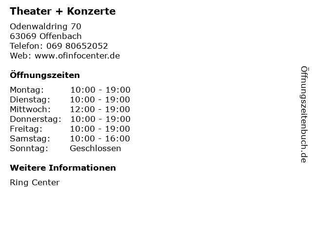 Theater + Konzerte in Offenbach: Adresse und Öffnungszeiten