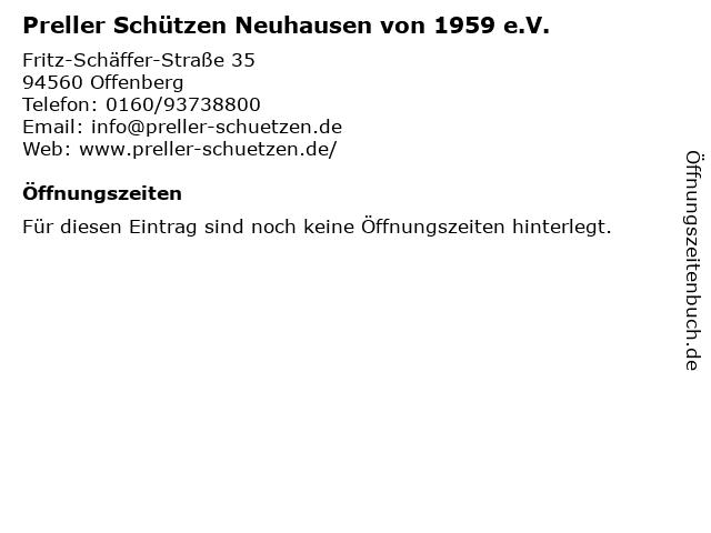 Preller Schützen Neuhausen von 1959 e.V. in Offenberg: Adresse und Öffnungszeiten