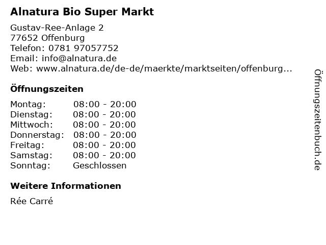 Alnatura Super Natur Markt in Offenburg: Adresse und Öffnungszeiten