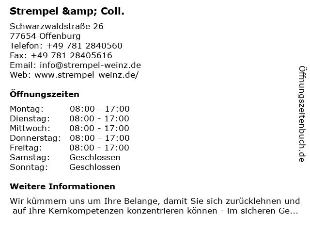 Strempel & Coll. in Offenburg: Adresse und Öffnungszeiten