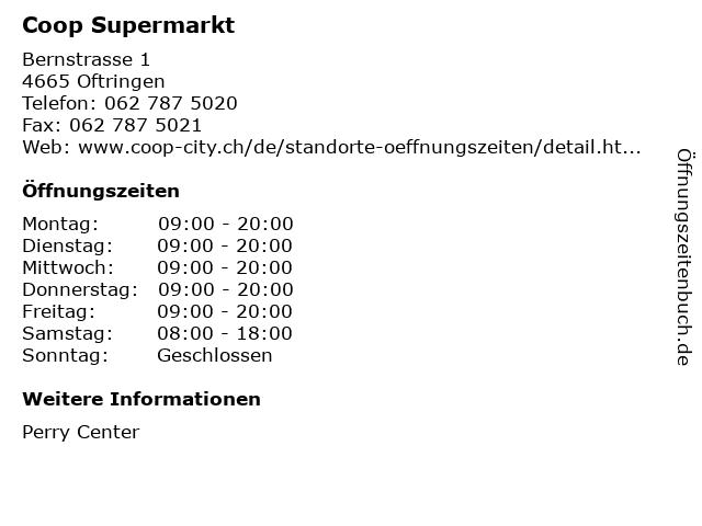 Coop Supermarkt in Oftringen: Adresse und Öffnungszeiten