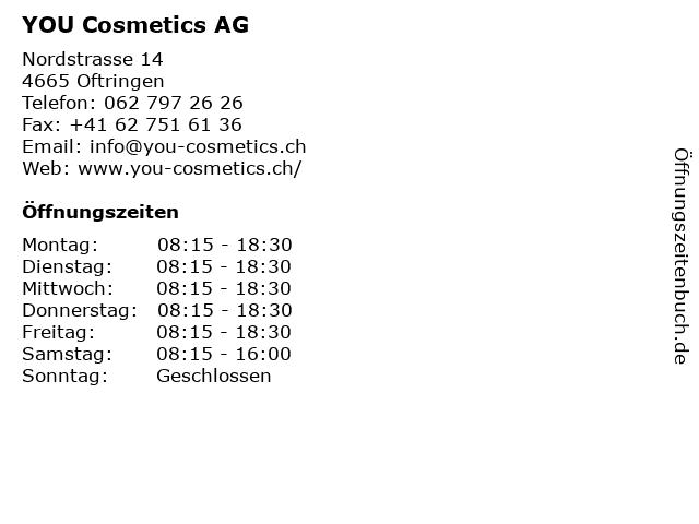 YOU Cosmetics AG in Oftringen: Adresse und Öffnungszeiten