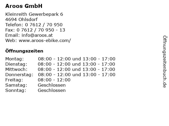 Aroos GmbH in Ohlsdorf: Adresse und Öffnungszeiten