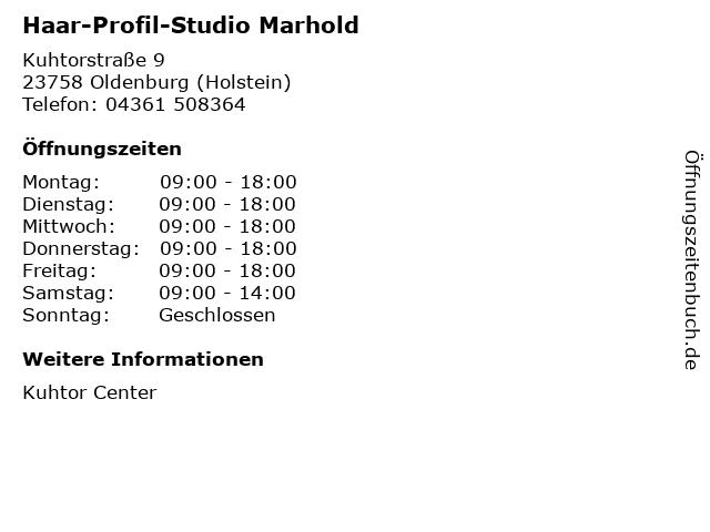 Haar-Profil-Studio Marhold in Oldenburg (Holstein): Adresse und Öffnungszeiten