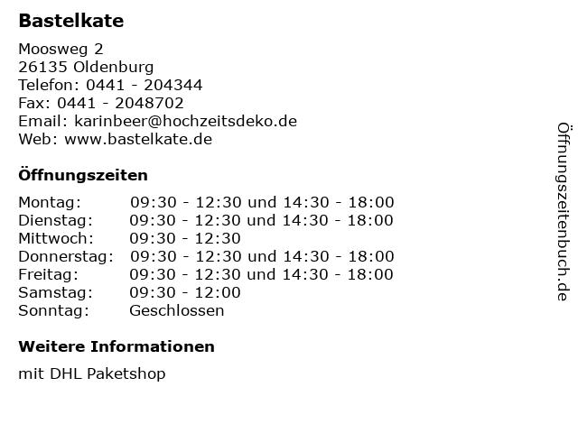 Bastelkate - DHL Paketshop in Oldenburg: Adresse und Öffnungszeiten