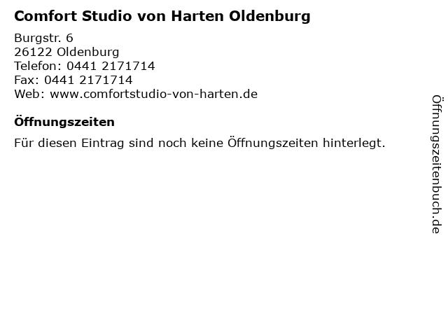 Comfort Studio von Harten Oldenburg in Oldenburg: Adresse und Öffnungszeiten