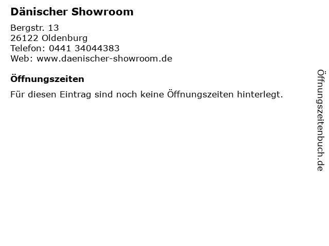 Dänischer Showroom in Oldenburg: Adresse und Öffnungszeiten