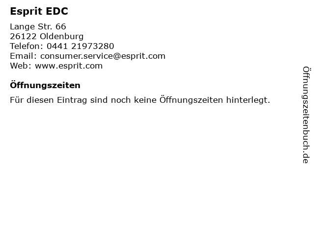 Esprit EDC in Oldenburg: Adresse und Öffnungszeiten